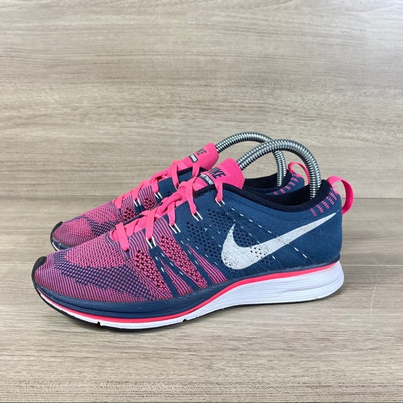 Nike Shoes   Flyknit Trainer Pink White